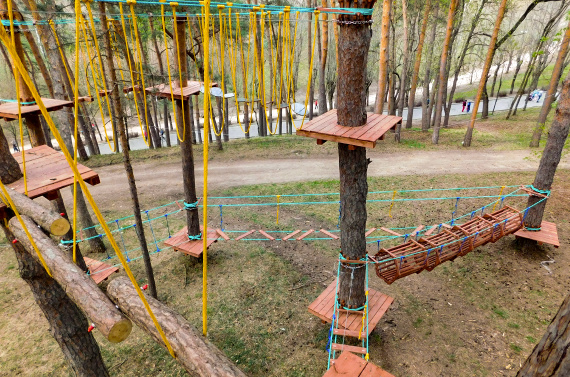 Kislovodsk Rope Park on a trees
