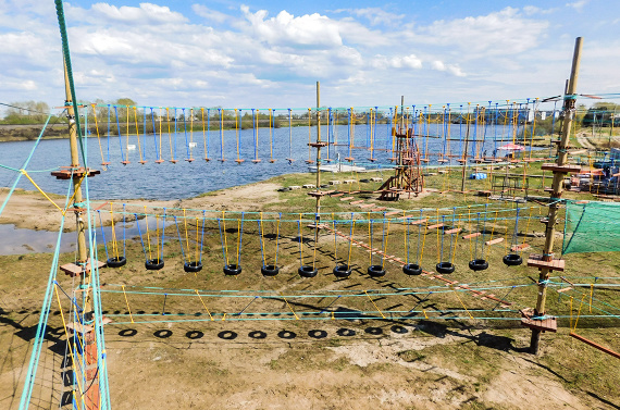 Arkhangelsk Rope Park on artificial poles