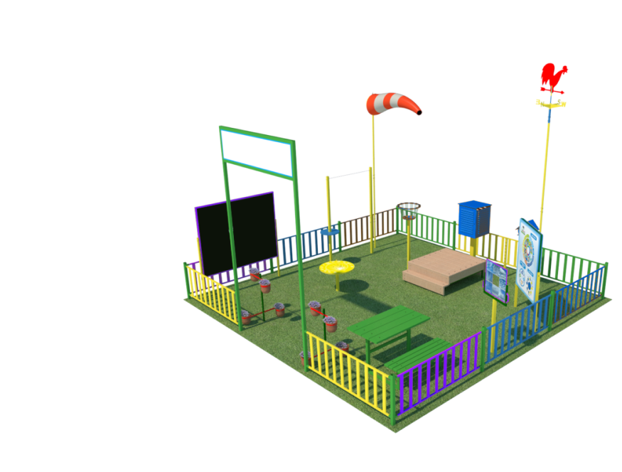 Kid's weather stations - figures for amusement park